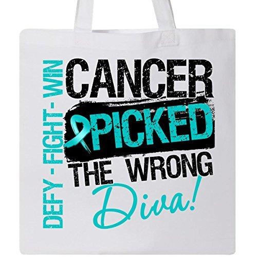 inktastic Krebs Der, Diva eierstockkrebses Tasche, indem HDD weiß von inktastic (- Bag Krebs-tote)