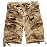 Geographical Norway Cargo Shorts Hunter mit UD Bandana Beige Camo - L -