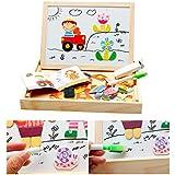 Juguete Puzzle Rompecabezas magnético Juguete de Madera Pizarra Regalos Niños de 3 4 5 Años