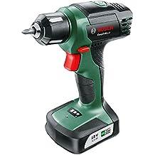 Bosch Taladro atornillador a batería EasyDrill 12 (12 V, sin batería Power for all, 1,5 Ah, Cargador, Punta de destornillador)
