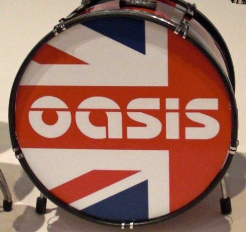 RGM322 Oasis Union Jack Miniaturschlagzeug Rock Guitar The Rain Liam Gallagher Paul Arthurs Bonehead Paul Mcguigan Tony Mccarol Alan White Hier nun Definitely Maybe