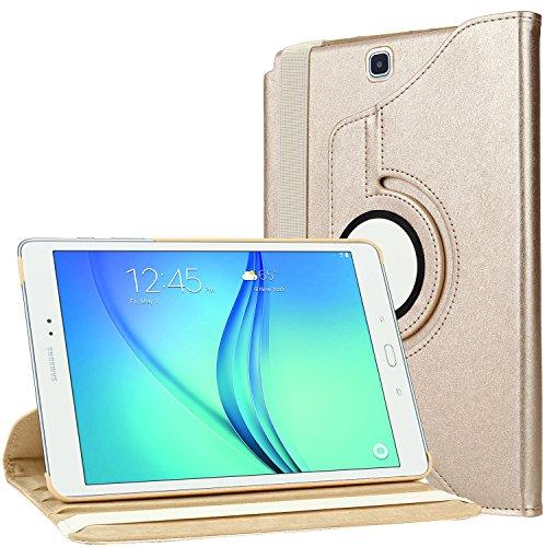 Housse Samsung Galaxy Tab A 9 7, Bingsale 360 à Housse en cuir pour Samsung Galaxy Tab A 9.7 avec rabat/stand de positionnement support et le sort de veille (Samsung Galaxy Tab A 9.7, Champagne Or)
