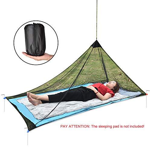 OTraki Moskitonetz Reise für 1 Person Ultraleich Mesh Zelt Moskito Tent A-förmigen Moskitonetz Einzelbett Robuster Kompakter Leichter Zelt ohne Halterung für Trekking, Camping, Outdoor