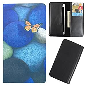 DooDa - For iBall Andi 5F Infinito PU Leather Designer Fashionable Fancy Case Cover Pouch With Card & Cash Slots & Smooth Inner Velvet