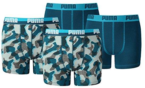 Puma Jungen Boxershort KIDS Limited Black Edition 4er Pack - blue power - Gr. 152 (Jungen Unterwäsche)