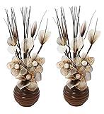 Flourish 796167 Fleurs artificielles en soie avec vase ovale pourpre noir violet 75cm, Verre, Café/crème, 10x10x32 cm