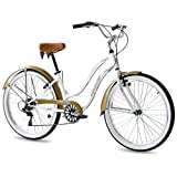 "26"" BEACHCRUISER ALOHA 2.0 DAMENFAHRRAD 6 Gang SHIMANO weiss RETRO LOOK - 66"