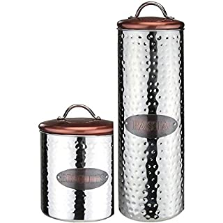 Apollo Housewares Biscuit Pasta Canister Kitchen Food Jar Containers Storage Set