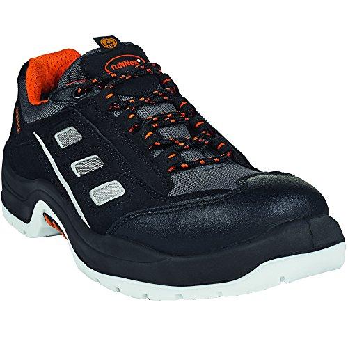 Preisvergleich Produktbild Arbeitsschuhe RUNNEX 5104–42Sicherheit Schuhe Team Star, S1, Größe 42, Schwarz/Orange/Grau