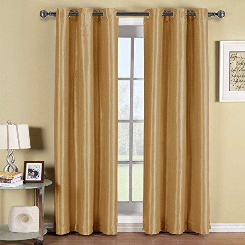 Soho-panel (Soho Tülle Fenster Vorhang, verdunkelnd, Panel, Muster, Durch Royal Hotel, Polyester, gold, 42