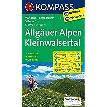 Allgäuer Alpen - Kleinwalsertal: Wanderkarte mit Aktiv Guide, Panorama, Radrouten und Skitouren. GPS-genau. 1:50000 (KOMPASS-Wanderkarten, Band 3)