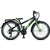 Puky 4880 Fahrrad Crusader 24-21 schwarz-grün