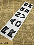 CXYYJGY Letras de numéro ABS Negro Brillante Mot Range Rover Insignia de ataúd de Voiture emblème Letra autocollant