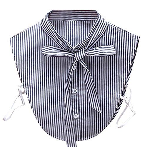 QUINTRA Women New Blouse False Collar Clothes Shirt Detachable Collars (White 0196)
