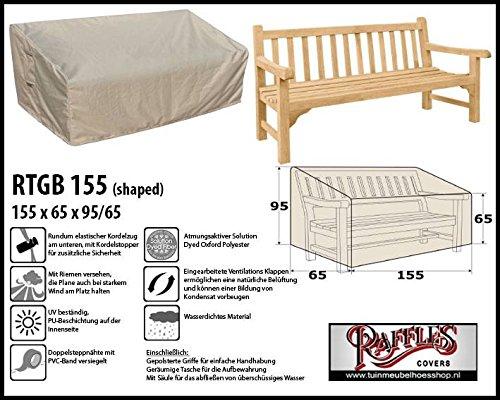 Raffles Covers RTGB155 Schutzhülle für Gartenbank 2,5 Sitzer Schutzhülle für rechteckigen...