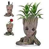 Angker Blumentopf mit Cartoon-Figur - Groot - Sukkulenten-Übertopf, für grüne Pflanzen oder Stiftehalter, tolle Geschenkidee für Kinder