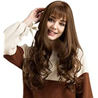 PerGrate - Peluca de pelo sintético para mujer, larga, lisa, 64 cm,