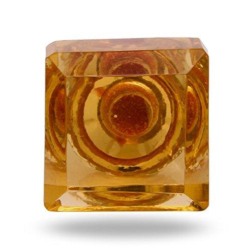 Pomello in vetro, colore: ambra Silvana Porta