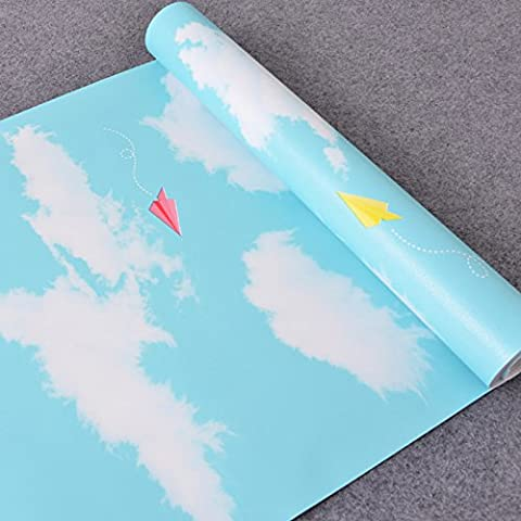 VanMe Autoadesiva Carta Da Parati In Pvc Adesivo Sfondo Joker Camera Da Letto Soggiorno Background Pubblicato 10 M Con Cielo Blu E Nuvole Bianche