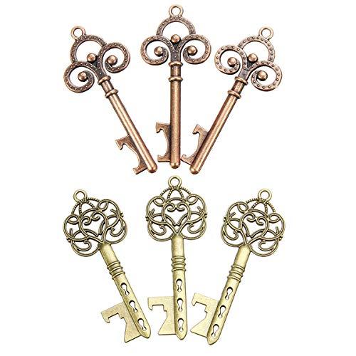 Wchaoen 3 Stücke Vintage Schlüssel Flaschenöffner Hochzeit Gunsten Geschenk Candy Box Set Kit Werkzeugzubehör -