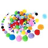 Ofoen pompons, 200pièces pompons pour loisirs créatifs et Hobby Fournitures, mélange de couleurs