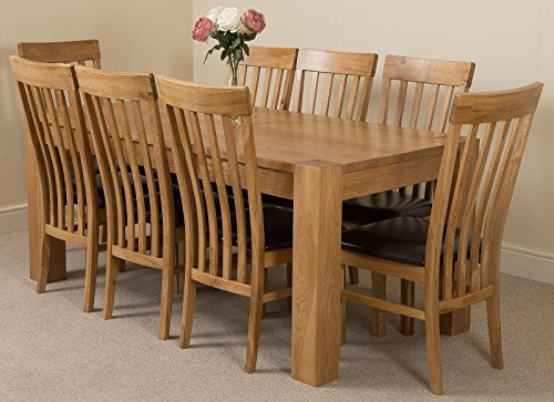 Kuba chunky cm kitchen solid oak dining table with