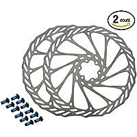 hemeraphit 2pcs montaña bicicleta rotores G3rotores de acero inoxidable de disco de freno de bicicleta con libre 12pernos