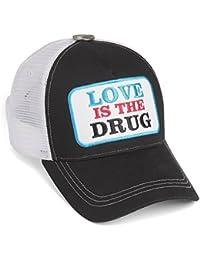 Rockstars & Angels Unisex Cap Love is the Drug white/black