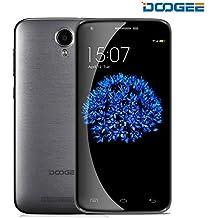 DOOGEE Y100 PLUS Moviles Libres Baratos, 4G Smartphone Libre - Android 5.1- 5.5 Pantalla HD - MT6735 64-Bit 1.0 GHz - SONY IMX219 8.0MP Cámara - Dual SIM - 2GB RAM +16GB ROM - OTG, OTA (Gris)