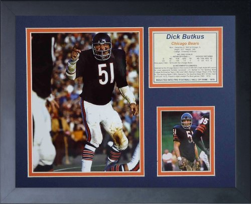 "Price comparison product image Legends Never Die ""Dick Butkus Home Framed Photo Collage, 11 x 14-Inch"