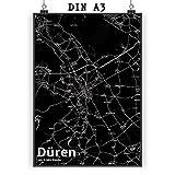 Mr. & Mrs. Panda Poster DIN A3 Stadt Düren Stadt Black -