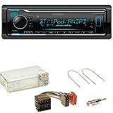 Kenwood KMM-BT304 FLAC Autoradio Bluetooth USB AUX 1-DIN AOA WMA MP3 Spotify Einbauset für Opel Astra F G Corsa B Zafira A