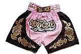 Nakarad Pantaloncini da boxe thailandesi per i bambini (2-10anni) nuovi modelli (Rosa, XXS (2-3anni))