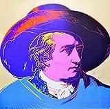 Andy Warhol Goethe red face Poster Kunstdruck Bild 66 x 66 cm