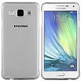 moodie Silikonhülle für Samsung Galaxy A3 Hülle in Anthrazit-transparent - Case Schutzhülle Tasche für Samsung Galaxy A3
