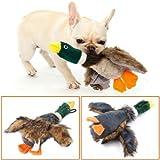 Cheely 2 Pezzi Pet Dog Toy Puppy Dog Masticare Giocattolo con Cartoni Animati Peluche cigolio Stile Anatra per Cane Piccolo Medio o Gatto