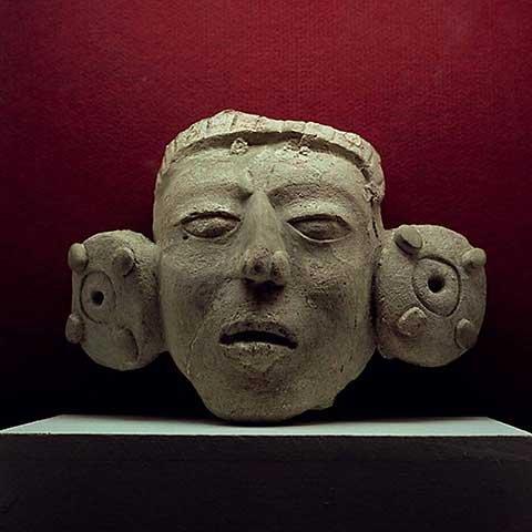 """Stampa artistica / Poster: Mayan """"Mask, 500-900 AD"""" - stampa di alta qualità, immagini, poster artistici, 45x45 cm"""
