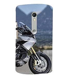 Futuristic bike 3D Hard Polycarbonate Designer Back Case Cover for Moto G Turbo Edition