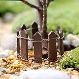 GUOYIHUA Garten Picket Fence Panel, Kunststoff Rasen für Pflanzen und Blumen, Lattice, Mini, mit Fee Puppenhaus-, Garten, aus Holz, Bambus, Coffee, 3#
