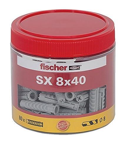 Fischer Spreizdübel SX 8 x 40 Dose, 80 Stück, 531029