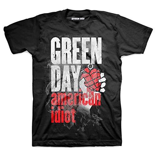 Green Day Camiseta Album American Idiot T-Shirt Música Rock - Oficial (Large)
