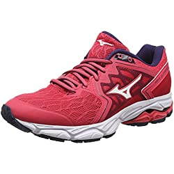 Mizuno Wave Ultima 10, Zapatillas de Running para Mujer, Rojo (Teaberry/White/Evening Blue 02), 42 EU