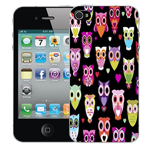 Nouveau iPhone 5 5s clip on Dur Coque couverture case cover Pare-chocs - shaddow leopard Motif avec Stylet sophisticated owl
