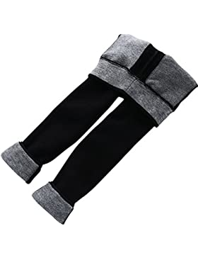 Leggings Elástico De Niña Espesamiento Caliente Pierna Completa Pantalones