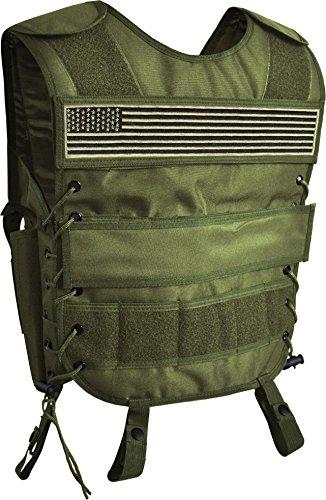 AT Weste mit Pistolenholster und abnehmbarem Schriftzug auf dem Rücken Farbe US-Flagge Größe 3XL/4XL (Taktische Weste Kostüm)