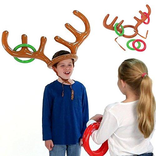 Terzsl Reparatur-Werkzeug, lustiges aufblasbares Rentier Geweih Hut Ring Werfen Weihnachten Party Spiel Geschenk