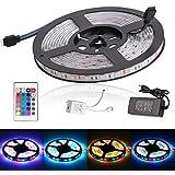 SURWELL LED Lichterkette Streifen Lichtband 300 LEDs (SMD 3528) inkl. Netzteil & Fernbedienung