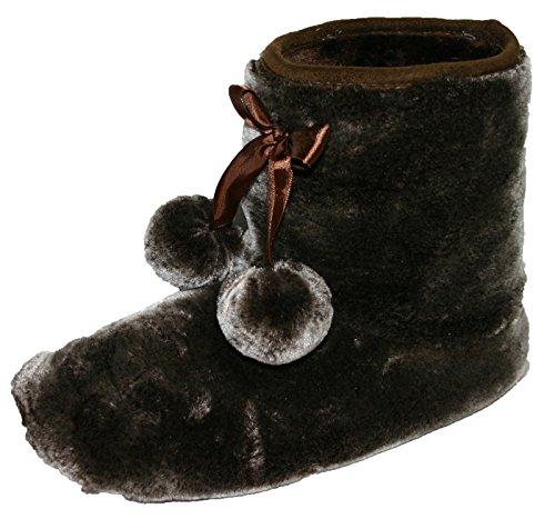 Dunlop Chaussons bottines Bree Furry femme Tailles :  3–8 Marron - marron