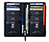 #8: Pareek the perfect hashtag, 4 #passport Holder, mini cards Holder and Currency wallet (All in One) BLACK for keeping safely 4 Passport And 6 Credit or all types of ATM size cards In one Time (material- Imported PU Black)