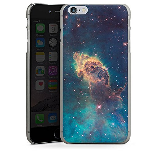 Apple iPhone X Silikon Hülle Case Schutzhülle Space Muster Carina Nebel Hard Case anthrazit-klar
